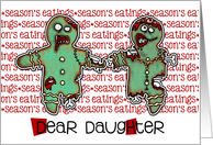 for Daughter - Zombie Christmas - Season's Eatings card