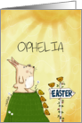 Customizable Happy Easter for Ophelia-Bunny Sees Easter Ahead card