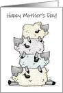 Happy Mother's Day, Sheep Pile Up, Love Ewe card