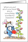 Happy Easter-Bunny Grows an Egg Tree card
