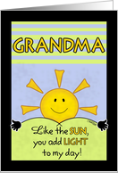 Happy Birthday to Grandma or Grandmother-Add Light to My Day card