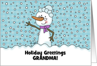 Elder Snowwoman - Merry Christmas to Grandma/Grandmother card