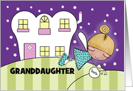 Tooth Fairy Visit-Customizable Congrats Lost First Tooth Granddaughter card