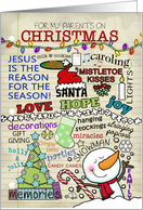 Christmas Notes and Memories-Customizable Merry Christmas for Parents card
