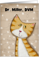 Customized Merry Christmas for Veterinarian-Cat with Stringed Lights card