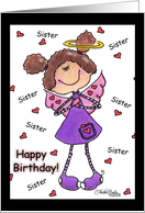 Angel Hearts-Sister Birthday card