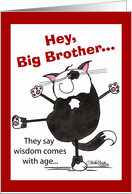 Showoff Cat-Birthday big brother card