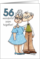 Growing Old Together- 56th Anniversary card