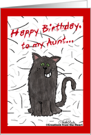 Shedding Cat-Birthday for aunt card