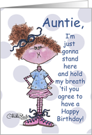Hold My Breath-Birthday Auntie card