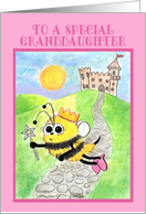Happy Birthday for Granddaughter-Bee Princess card