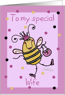 Birthday for Wife-Queen Bee card