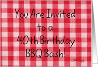 40th Birthday BBQ Invitation card