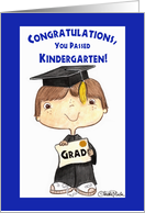 Little Kindergarten Graduate Boy card