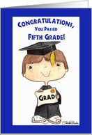 Little 5th Grade Graduate Boy card