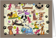 Dog Collage-Happy Birthday to Veterinarian card