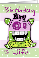 Birthday for Wife -Bling card