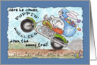 Easter Bunny -Poppin' Wheelies Down the Bunny Trail card