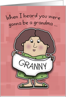 First Time Grandma Congratulations- Granny Panties card