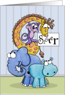 Happy Birthday to Sister-Zoo Animals card