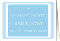 4 Principles Baptism Card, spanish card