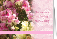 FIrst Mother's Day Niece card
