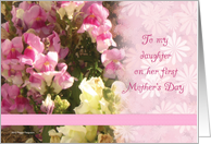 First Mother's Day Daughter card