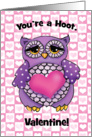 Owl Valentines Day Card for Kids card