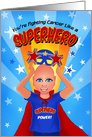 Kids Superhero Thinking of You Cancer Patients card