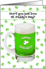 Going Green St Paddys Day Beer Humor card