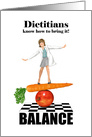 Balancing Dietician Registered Dietician Day card
