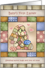 Patchwork Bunny Baby First Easter card