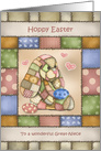 Patchwork Bunny For Great Niece Easter card