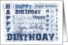 Happy Birthday Cards Cool Denim Paper Greeting Cards