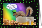 End of the Rainbow Squirrel St. Patricks Day Humor Cards