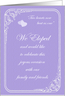 Two Hearts Reception Invitation card