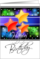 Shining Star Business Birthday Card
