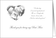 Cowboy and Cowgirl Children Best Man Thank You Card