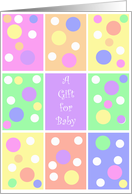 Polka Dot Gift For You Birthday, Baby Shower Card