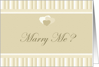 Marriage Proposal Hearts and Textured Monotone Beige Design card