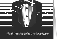 Thank You Card Wedding Ring Bearer card