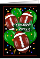 Football Theme Tailgate Party Invitations card