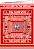 Mother-In-Law Valentine Handmade Pieced Quilt Design card
