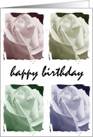 Happy Birthday Pastel Roses card