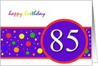 Happy Birthday 85th card
