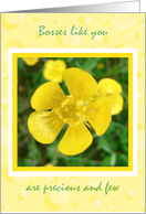 Bosses Day Card Yellow Flower card