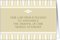 New Lawyer Announcement card
