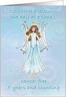 Cancer Survivor Angel Counting Blessings card