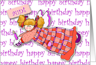 Aunt Cupcake Angel Birthday card