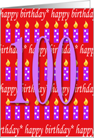 100 Years Old Lit Candle Age Specific Birthday Card
